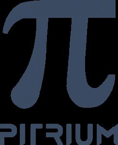 Logo Pitrium Online Kurse blau transparenter Hintergrund