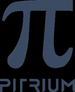 Logo Pitrium Online Kurse blau transparenter Hintergrund 720 × 887