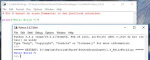 Python Grundlagen Online Kurs Pitrium Hello World IDLE