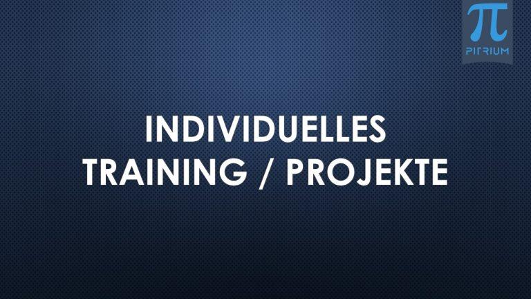 Individuelles Training Projekte