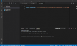 venv Python Virtuelle Umgebung Visual Studio Code settings.json