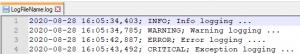 Python logging Level