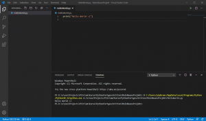 Visual Studio Code Python Hello World