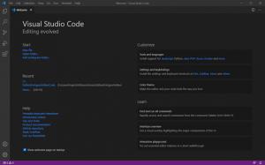 Visual Studio Code Startseite