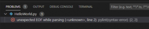 Visual Studio Code Probleme