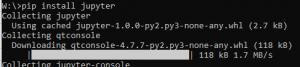 Python jupyter pip install