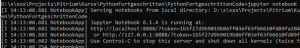Python jupyter notebook starten