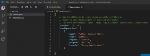 Visual Studio Code Debugging Konfiguration launch.json